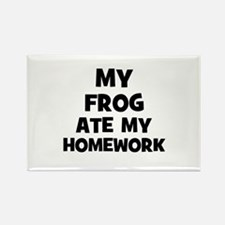My Frog Ate My Homework Rectangle Magnet