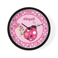 Ladybug Clock Abigail Wall Clock