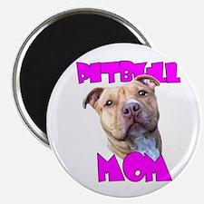 """Pitbull Mom 2.25"""" Magnet (100 pack)"""