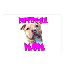 Pitbull Mom Postcards (Package of 8)