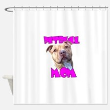 Pitbull Mom Shower Curtain