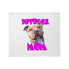 Pitbull Mom Throw Blanket