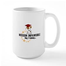 Mission Impawsible Dog Training Logo Mugs