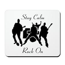 Rock On Black Mousepad
