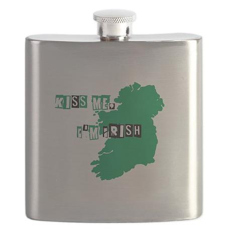 Kiss me, Im Irish Flask