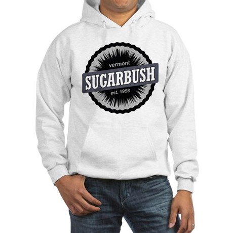 Ski Resort Vermont Black Hooded Sweatshirt