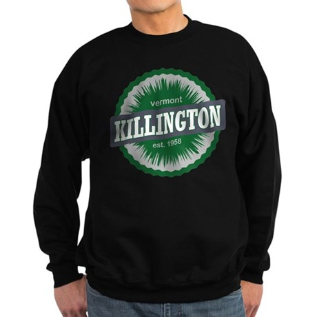 Ski Resort Vermont Dark Green Sweatshirt (dark)