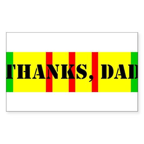 My Dad is a Vietnam Vet; Thanks Dad Sticker