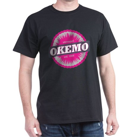 Ski Resort Vermont Pink Dark T-Shirt
