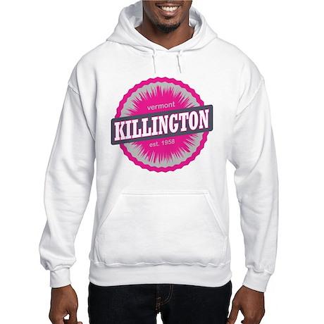 Ski Resort Vermont Pink Hooded Sweatshirt