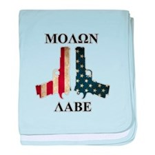 Molon Labe (Come and Take Them) baby blanket