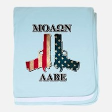 Molone Labe (Come and Take Them) baby blanket