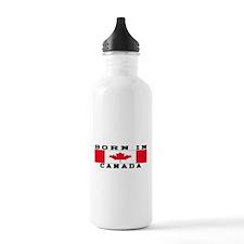 Born In Canada Water Bottle