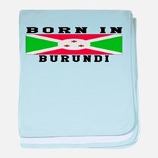 Born In Burundi baby blanket