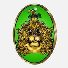 The Cowardly Lion Green Oval Ornament