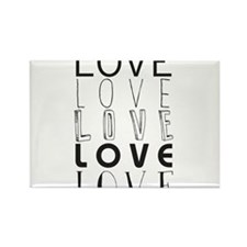 infinity Love Rectangle Magnet