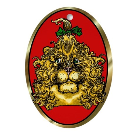 The Cowardly Lion Red Oval Ornament