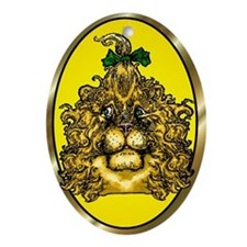 The Cowardly Lion Yellow Oval Ornament