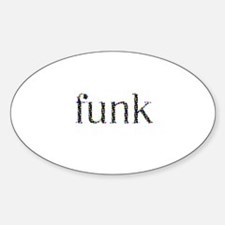 funky Oval Decal