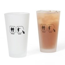 Female's Problem Solved Drinking Glass