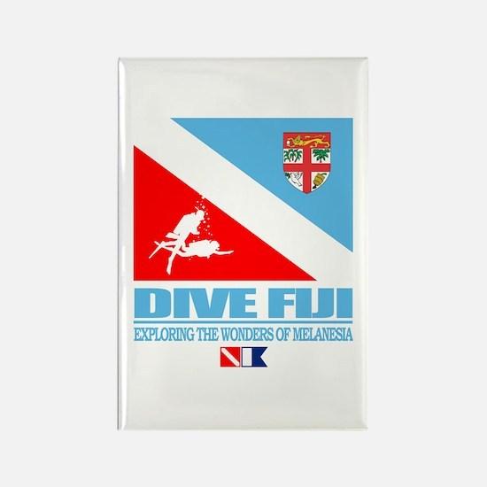 Dive Fiji Rectangle Magnet