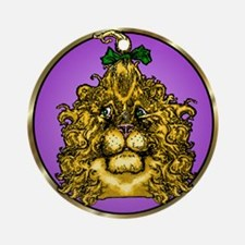 The Cowardly Lion Purple Round Ornament