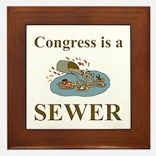 Congress is a Sewer Framed Tile