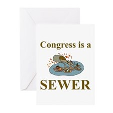 Congress is a Sewer Greeting Cards (Pk of 10)