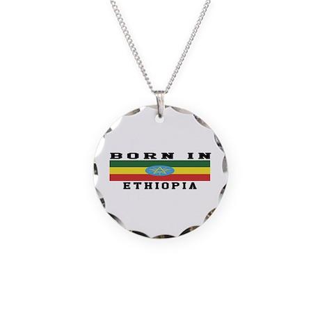 Born In Ethiopia Necklace Circle Charm