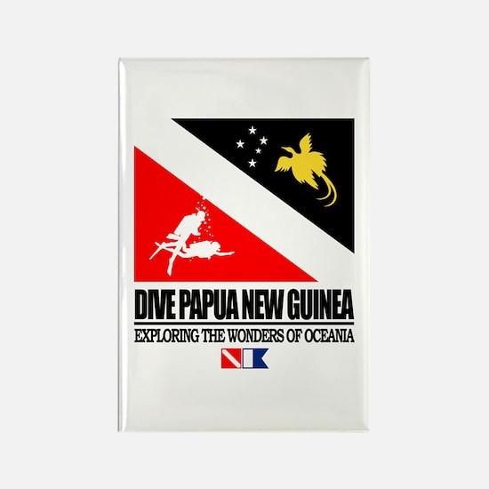 Dive Papua New Guinea Rectangle Magnet