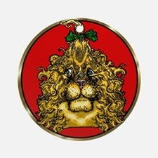 The Cowardly Lion Red Round Ornament