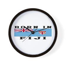 Born In Fiji Wall Clock