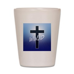 WWJD Shot Glass