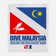 Dive Malaysia Throw Blanket