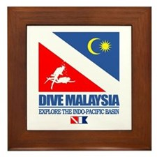 Dive Malaysia Framed Tile