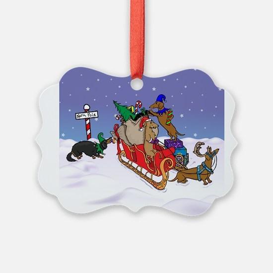 Cute Dachshund christmas Ornament