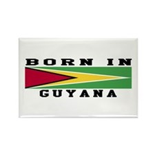 Born In Guyana Rectangle Magnet