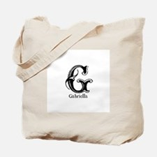 Gabriella: Fancy Monogram Tote Bag