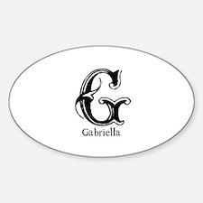 Gabriella: Fancy Monogram Oval Decal
