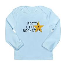 Potty Like Rock Star Long Sleeve Infant T-Shirt