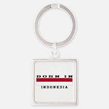 Born In Indonesia Square Keychain