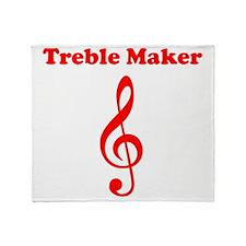 Treble Maker Red Throw Blanket