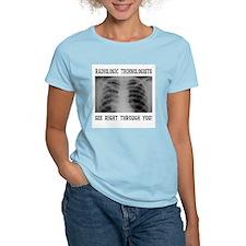 X-Ray Techs Women's Pink T-Shirt