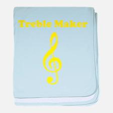 Treble Maker Yellow baby blanket