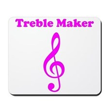 Treble Maker Pink Mousepad