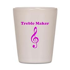 Treble Maker Pink Shot Glass