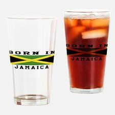 Born In Jamaica Drinking Glass