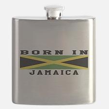 Born In Jamaica Flask