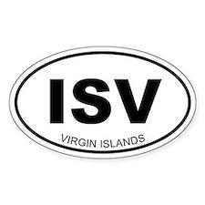 Virgin Islands Oval Decal