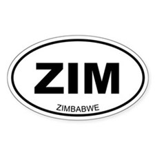 Zimbabwe Oval Decal